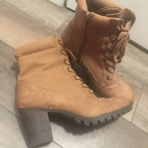 Tan healed boots